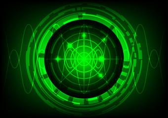abstract background circle green radar