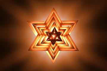 Stern auf Orange