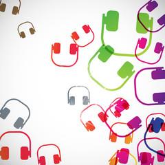 abstract background: headphones