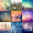 Zdjęcia na płótnie, fototapety, obrazy : business infographic with unfocused background