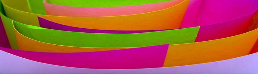 folias of the coloured paper