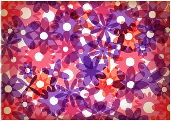 bright vector flowers wallpaper design