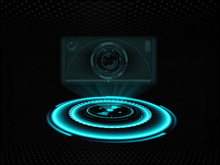 Holographic screen projection