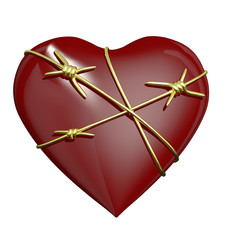 Heart Wrapped with Barbed Wire