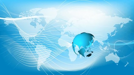 Blue earth technology business and communications background