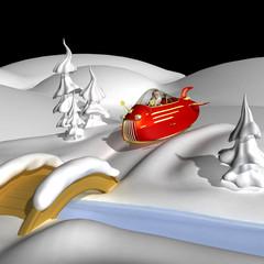 Santa In Jet Powered Sleeigh