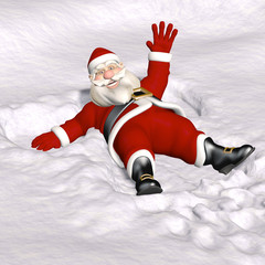 Santa Snow Angel