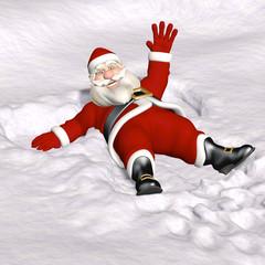 Santa Snow Angel