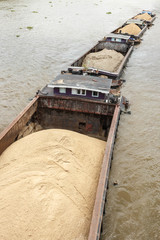 Sand barge on the Chao Phraya River in Bangkok.