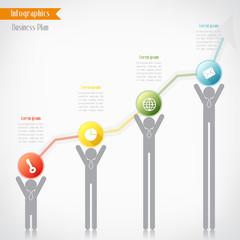 Business timeline infographics, Vector illustration for  banner,