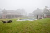 House Mansion Pool Mist  Landscape poster