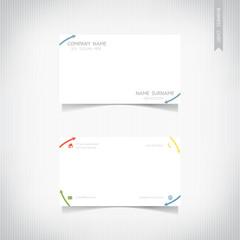 Business card template set, vector eps10