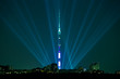 ������, ������: Night illumination in Moscow and Ostankino Tower