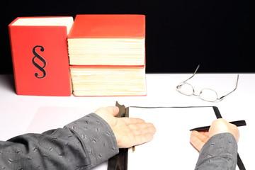 Unterlagen bereitlegen