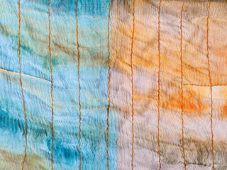 background from stitched silk batik