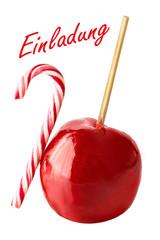 Zuckerapfel und Zuckerstange - Einladung