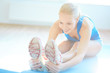 Exercise for stretching leg muscles