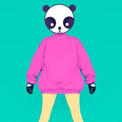 Fashion Panda girl.Vanilla color style