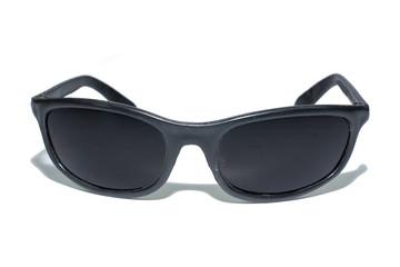 Black glasses isolate on white