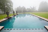 Swimming Pool Mist Countryside poster