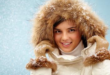 Snowfall girl