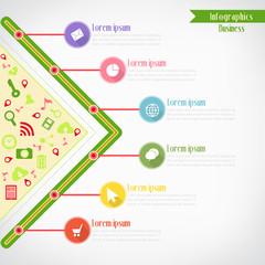 Business infographics, Vector illustration for  banner, web desi
