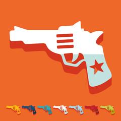 Flat design: revolver