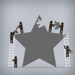 Business teamwork,  Vector illustration for concept, presentatio