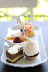 english tea set cake