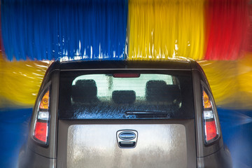 Car in carwash