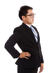 Asian businessman got back pain