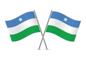 Puntland flags. Vector illustration.