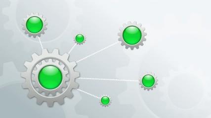 infographic rotating metal gears background loop