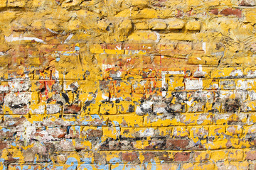 Scratched brick wall background