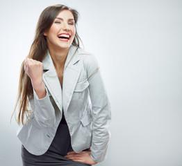 Business woman portrait. Success business. Female model.