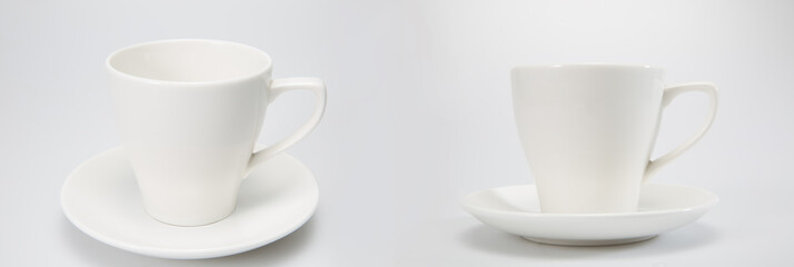 Cups, isolated on a white