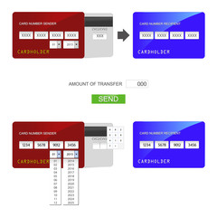 Image transfer between credit cards.