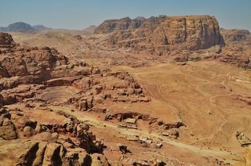 veduta dall'alto di Petra