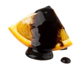 orange in a chocolate