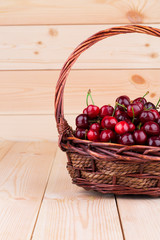 Cherries in basketry