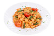 Italian pasta with tomatoes.