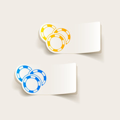 realistic design element: casino chips