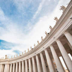 St Peter's Square in Vatican. Rome.