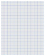 Notebook. Paper. Checkered