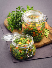 Macedonian preserves vegetables mixture