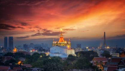 Bangkok Thailand landmark Big golden pagoda
