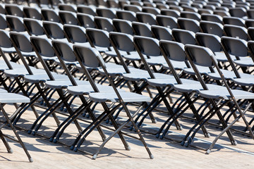 Grandstand Seats rows outdoors