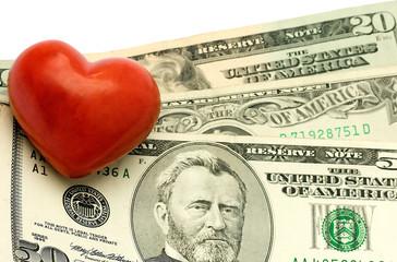 Heart on dollar