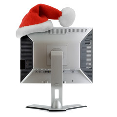 santa hat in LCD display