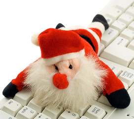 santa claus in keyboard